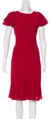Michael Kors Ruffle-Accented Midi Dress