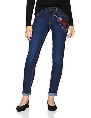 Joe Browns Women's Rainbow Embroidered Jeans Straight,(Size: 8)