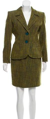 Yves Saint Laurent Vintage Bouclé Skirt Suit