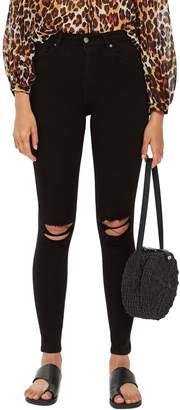 Topshop Ripped Jamie Jeans 30-Inch Leg