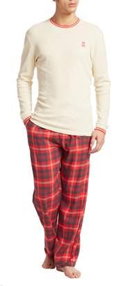 Psycho Bunny Men's Shirt & Gingham Pants Gift Set