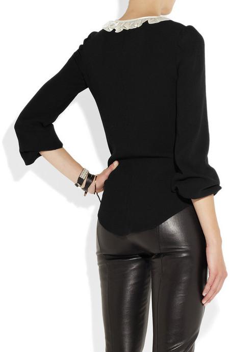 Etoile Isabel Marant Silk-trimmed crepe blouse