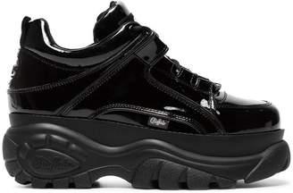 Buffalo David Bitton Black 60 patent leather platform sneakers