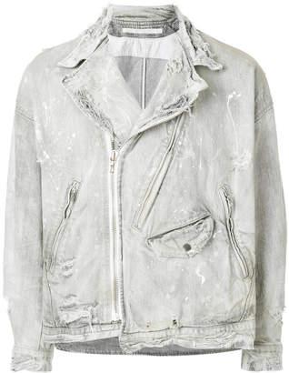 Julius distressed biker denim jacket
