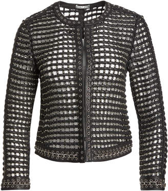 Alice + Olivia KIDMAN STUDDED LEATHER JACKET