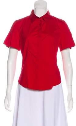 Prada Ruffled Short Sleeve Top
