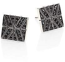 John Hardy Women's Modern Chain Black Sapphire & Sterling Silver Stud Earrings
