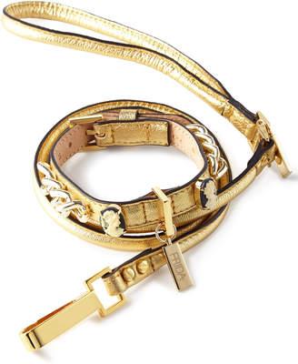 FRIDA Medium Golden Cameo Collar with Lead