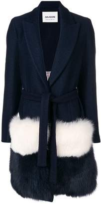 Ava Adore fur-panelled coat