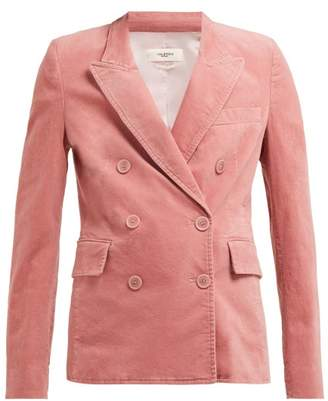 Etoile Isabel Marant Alsey Pink Velvet Double Breasted Blazer - Womens - Pink