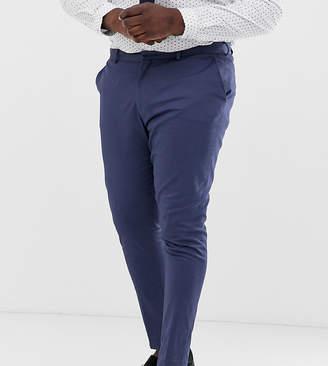 Asos Design DESIGN Plus wedding super skinny suit pants in stretch cotton in indigo blue