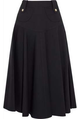 Derek Lam Fluted Cady Midi Skirt