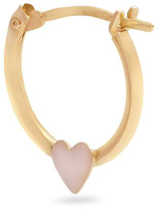 Alison Lou Enamel & yellow-gold Heart single earring