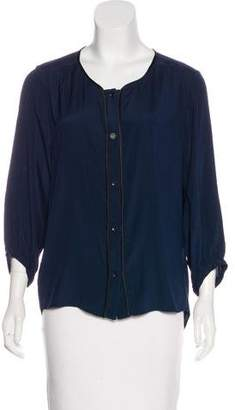 Rag & Bone Oversize Silk Blouse