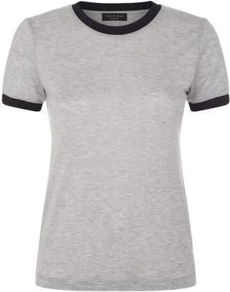 Rag & Bone Brighton Lurex Trim T-Shirt