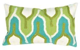 Visions III Crochet Tower Indoor and Outdoor Pillow