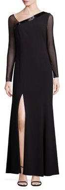 Laundry by Shelli Segal PLATINUM Beaded Asymmetrical Gown $695 thestylecure.com