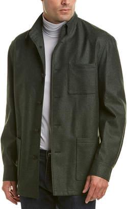 David Donahue Wool-Blend Shirt Jacket