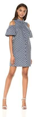 Trina Turk Trina Women's Cali Cold Shoulder Shirt Dress