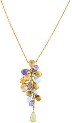 Marco Bicego 18K Multistone Cluster Necklace