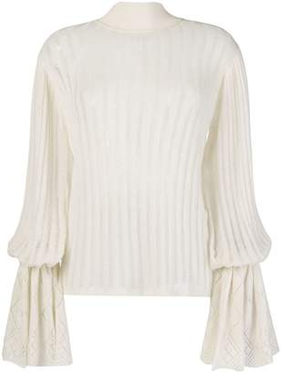 Michel Klein pleated knit jumper