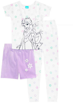 Disney's Frozen Toddler Girls 3-Pc. Cotton Pajama Set, Created for Macy's