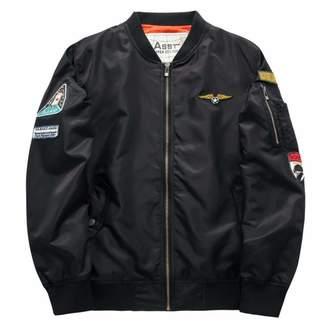 zgshnfgk Men's Bomber Jacket Casual Slim Fit Outerwear Coat(/