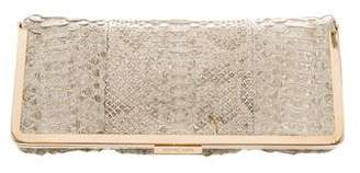 Michael Kors Python Fold-Over Clutch