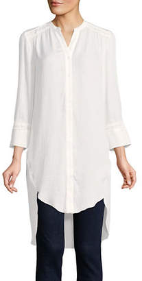 Halston H Long-Sleeve High-Low Tunic
