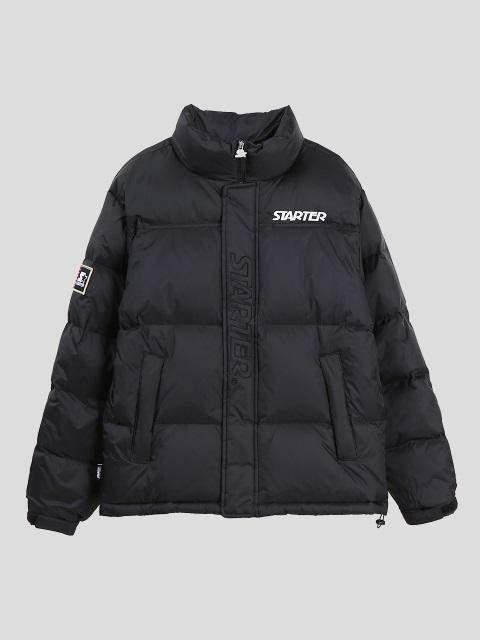 Puffer Down Jacket in Black