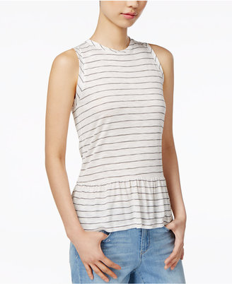 Maison Jules Striped Peplum Top, Created for Macy's $39.50 thestylecure.com