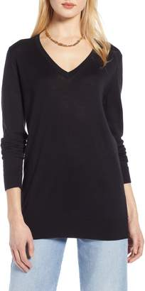 Halogen Relaxed V-Neck Sweater