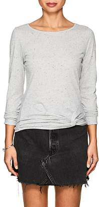 Lilla P WOMEN'S TWIST-FRONT SPECKLED COTTON T-SHIRT