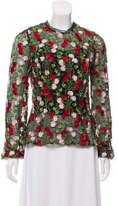 Alexis Embroidered Long Sleeve Blouse