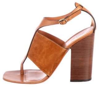 Celine Suede Strap Sandals Brown Suede Strap Sandals