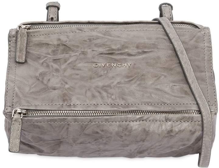 Mini Pandora Washed Leather Shoulder Bag