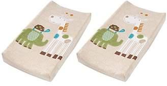 Summer Infant Plush Pals Changing Pad Cover - 2 Pack, Safari