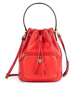 Prada Women's Leather Bucket Bag