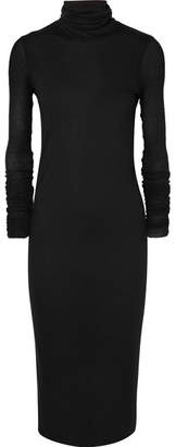 Rick Owens Stretch-jersey Turtleneck Midi Dress - Black