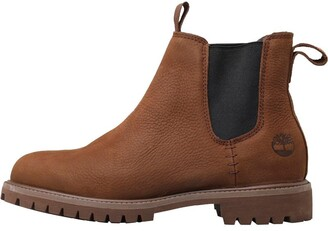 Timberland Mens 6 Inch Premium Chelsea Boots Dark Brown