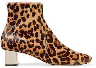 Nanushka Clarence Leopard-print Calf Hair Ankle Boots - Leopard print