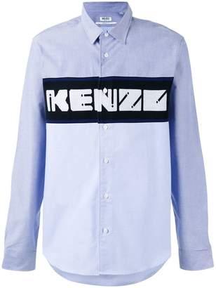 Kenzo knit panel shirt