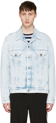 Gucci Blue Denim 'Loved' Angry Cat Embroidery Jacket $2,350 thestylecure.com