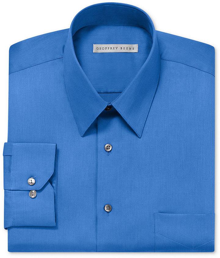 Geoffrey Beene Dress Shirt, Solid Sateen Long Sleeve Shirt