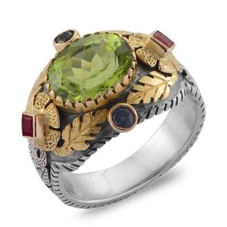 Emma Chapman Jewels Empress Peridot Blue Sapphire Ruby Ring