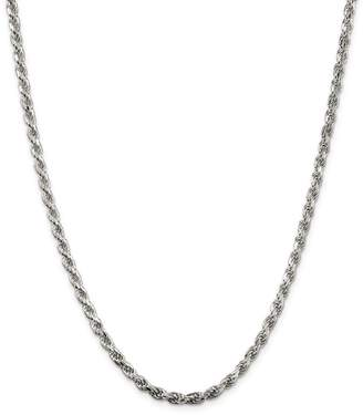Lex and Lu Sterling 3.5mm D/C Rope Chain Necklace or Bracelet QDC080