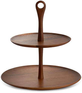Nambe Skye Dinnerware Collection by Robin Levien Wood Tiered Dessert Stand