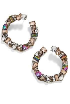 BaubleBar Seraphine Crystal Wraparound Hoop Earrings