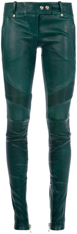 Balmain leather trouser
