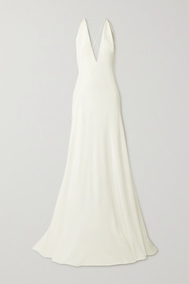 Michael Lo Sordo - Alexandra Silk Crepe De Chine Gown - Ivory